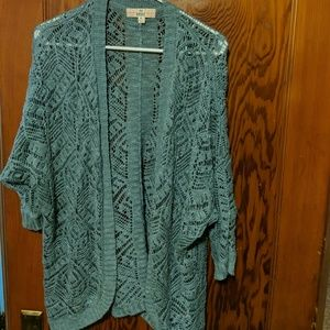 Blue lace cardigan